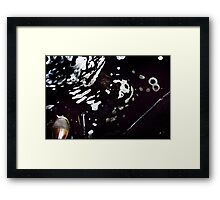 Tripod Leg Boot and the Number 8 Framed Print