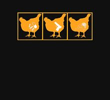 The Chickening - Orange on Black Womens Fitted T-Shirt