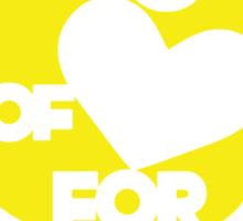 Minion of Love for Him (girls) Sticker