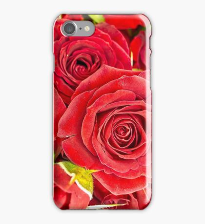 Red roses for love and romance iPhone Case/Skin
