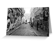 Hosier Lane Melbourne Greeting Card