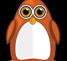 Brown Orange Penguin 2  by Adamzworld