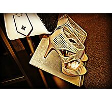 Vera Wang Designer Stilettos and Bag Photographic Print