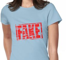 Fake - rubber stamp effect Womens Fitted T-Shirt