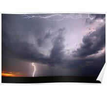 """Summer Storm over Sunset"" Poster"