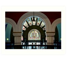 Stained Glass II- Exit down Art Print