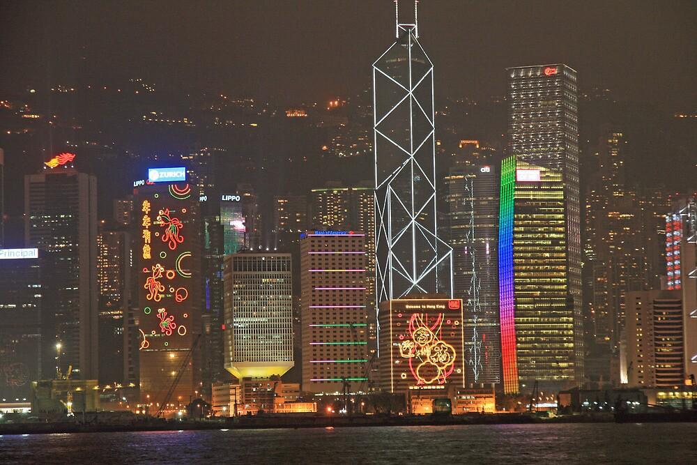 Hong Kong at Night by DRWilliams