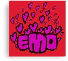 Emo hearts Canvas Print