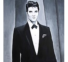 Grayscale Elvis Photographic Print