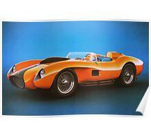 Ferrari 250 Testa Rossa - Vintage Racing Poster