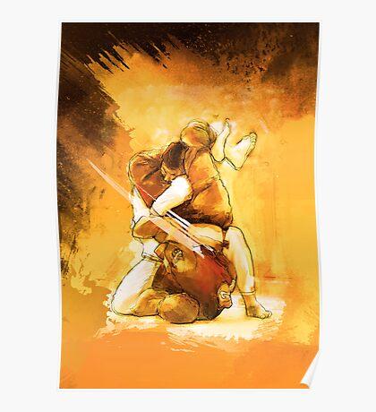 Brazilian Jiu Jitsu Triangle Submission Poster Poster