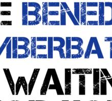 Run Like Benedict Cumberbatch is Waiting Sticker