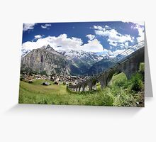 Mountains in Switzerland Greeting Card
