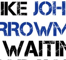 Run Like John Barrowman is Waiting Sticker