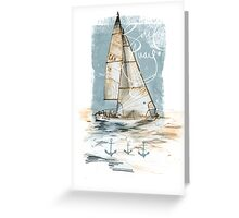 'Sail Away' Greeting Card Greeting Card
