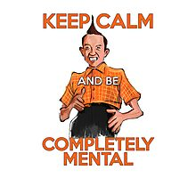 Keep Calm with Ed Grimley Photographic Print