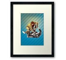 Jiu Jitsu Spider Guard Poster Framed Print