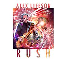 RUSH - Alex Lifeson Photographic Print