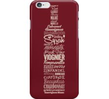 Wineography (Crimson) iPhone Case/Skin