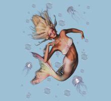 The Mermaid .. tee shirt by LoneAngel