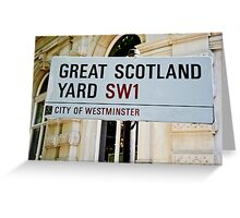 Great Scotland Yard street sign Greeting Card