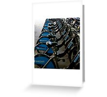 Bikes in London Greeting Card