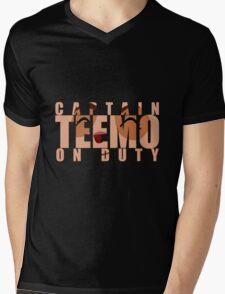 Captain Teemo on duty! Mens V-Neck T-Shirt