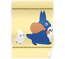 chuu and chibi totoro Poster