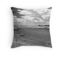 Burnham-on-Sea Estuary #2 Throw Pillow