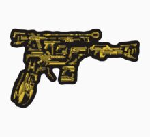 No Match for a Good Blaster - 26 Classic Sci-Fi Guns - Sticker by ianleino