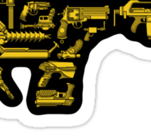 No Match for a Good Blaster - 26 Classic Sci-Fi Guns - Sticker Sticker
