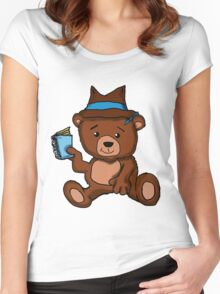 Teddy Bear: Toy P.I.  Women's Fitted Scoop T-Shirt