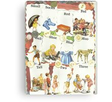 See Dick & Jane's Crazy Quilt.. Canvas Print