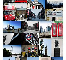 London, England - collage of multiple images by Andrew Robinson