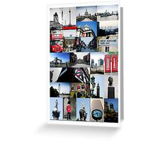 London, England - collage of multiple images Greeting Card
