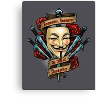 Fifth of November Canvas Print