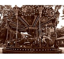 Carrousel Jules Verne Photographic Print