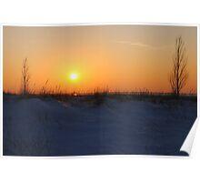 Sunset along Lake Michigan at Silver Beach - 2 Poster