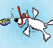 White Schnauzer Under the Sea by offleashart