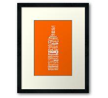 Wineography (Blaze Orange) Framed Print