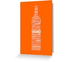 Wineography (Blaze Orange) Greeting Card