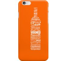 Wineography (Blaze Orange) iPhone Case/Skin