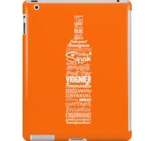 Wineography (Blaze Orange) iPad Case/Skin