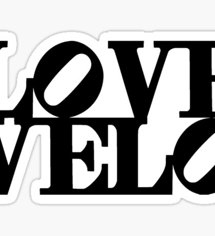 Love Velo Sticker