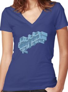 Orange County Government Center Women's Fitted V-Neck T-Shirt