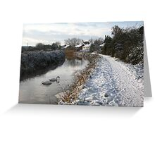 Bridgwater and Taunton Canal - winter scene #2. Greeting Card
