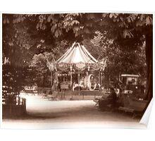 Manege Du Parc Monceau Poster