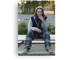 Young man. Canvas Print