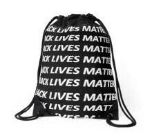 Black lives matter assortment Drawstring Bag