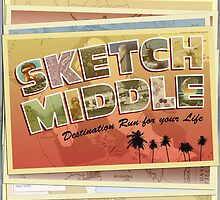 Sketch Middle - Destination Run For Your Life - Album Art by annekulinski